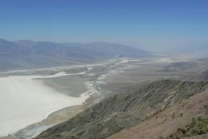 Het Badwater vanuit Dante's view