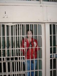 Fleur in een Alcatraz cel