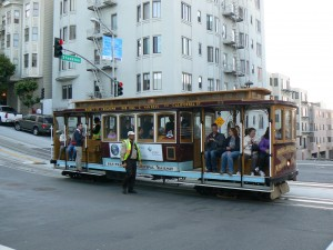 Een kabeltram in San Francisco