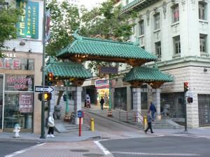 De toegangspoort naar China Town